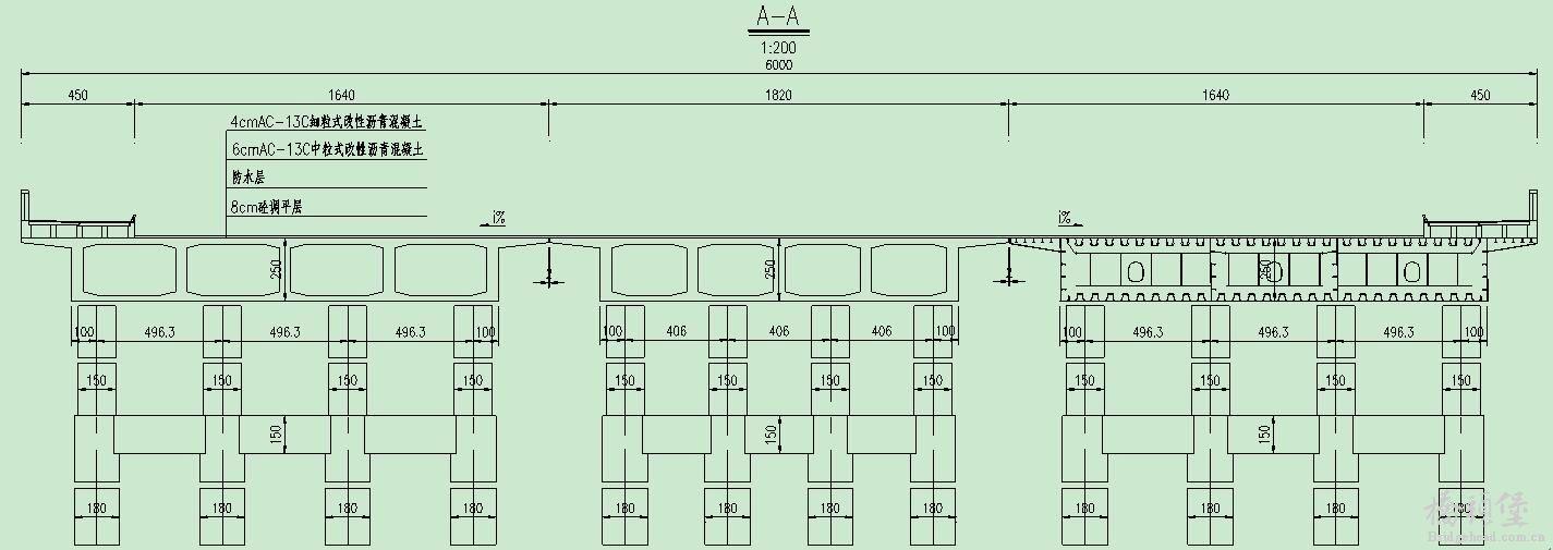 桥墩桩基础结构示意图