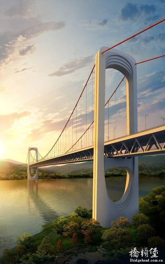 重庆郭家沱长江大桥方案谍照图片